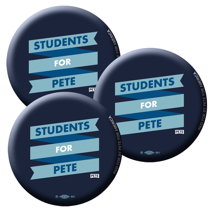 Students For Pete Buttons (Set of 3)