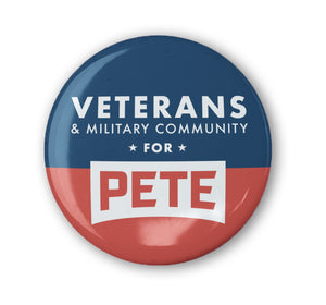 Veterans and Military Community Buttons (Set of 3)