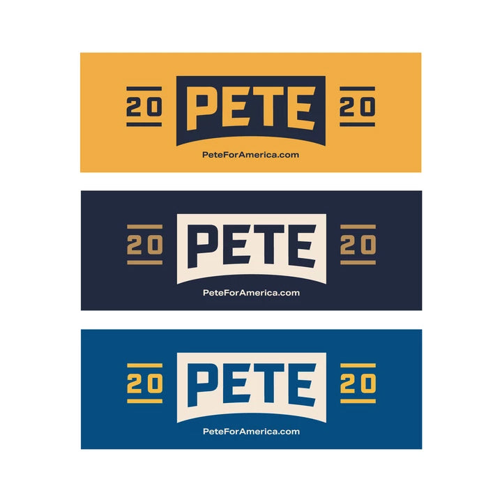 Pete 2020 Bumper Stickers