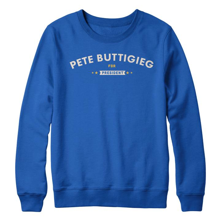 Pete Buttigieg for President Sweatshirt (Royal Blue)