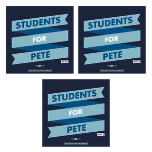 Students For Pete Stickers (Set of 3)