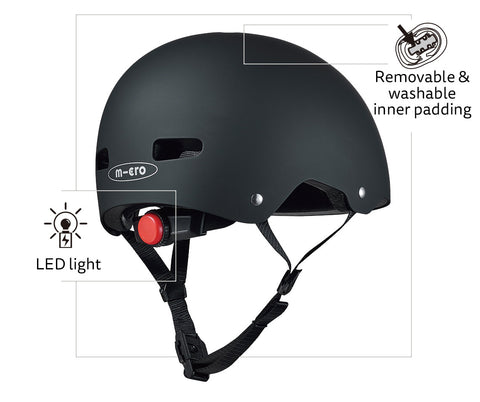 Adult helmet feature rear