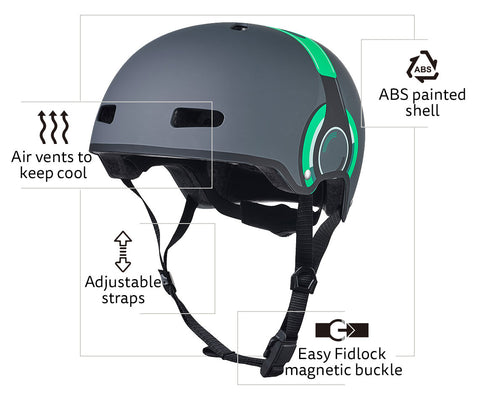 headphone helmet LED features