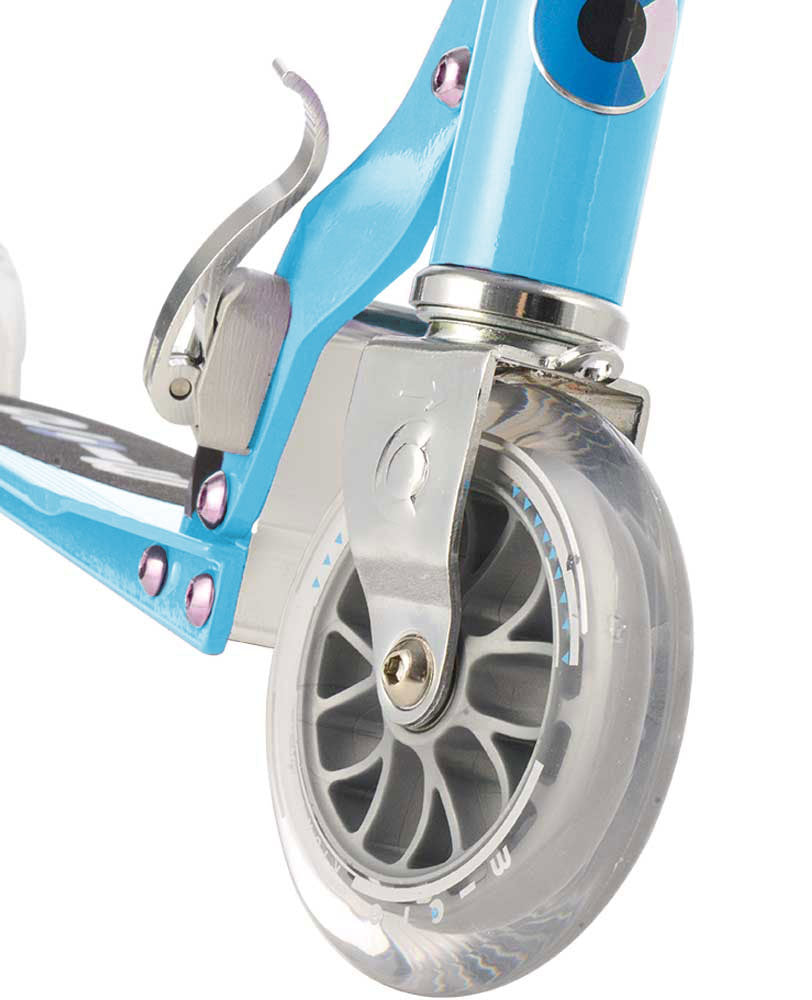 blue micro sprite scooter front wheel