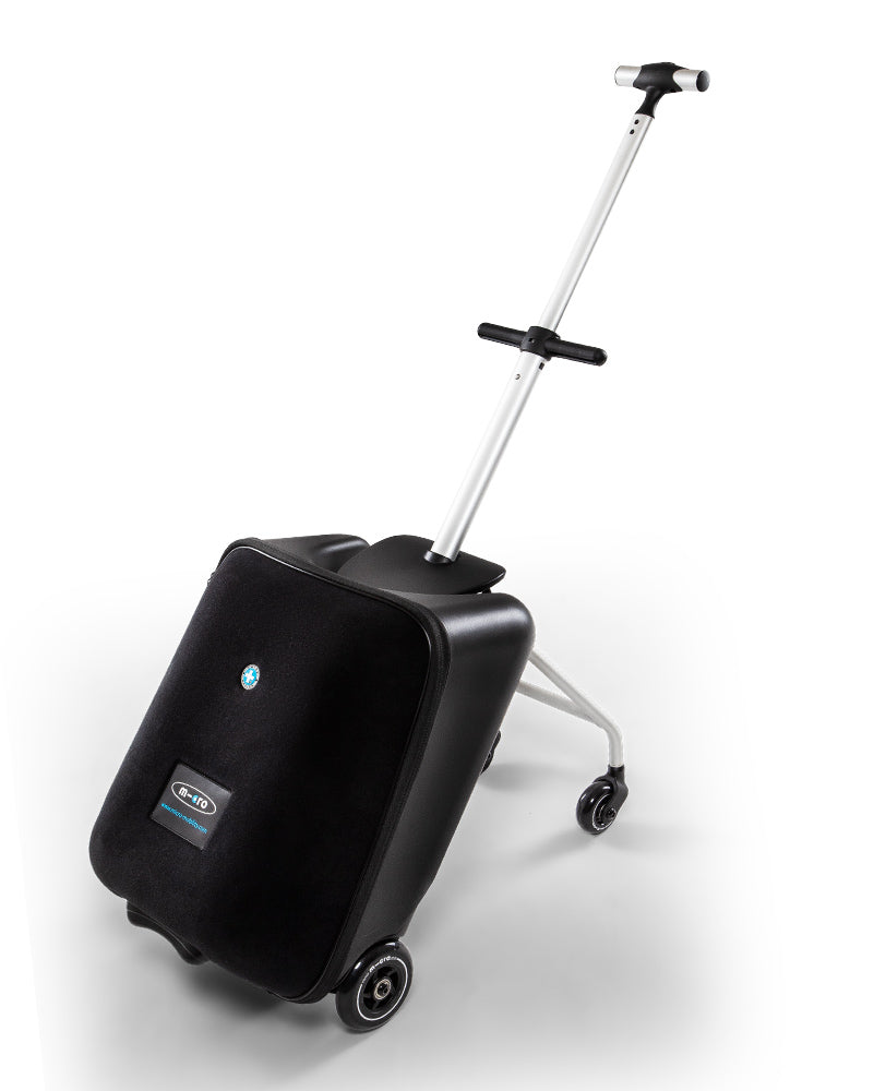 micro luggage eazy side view handle extended