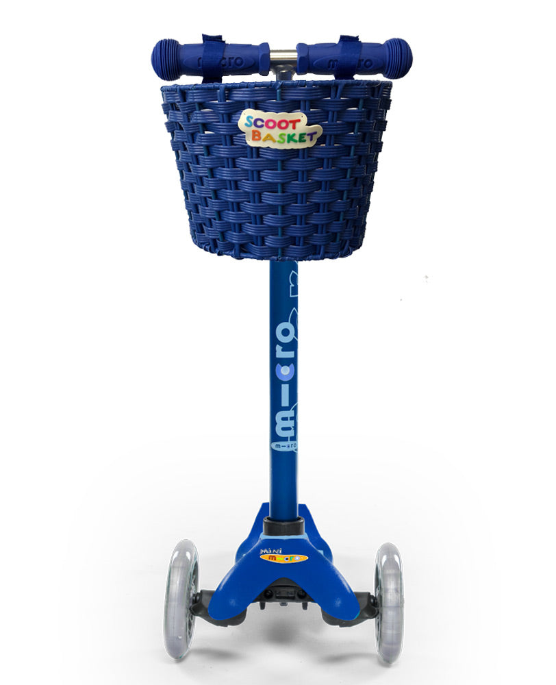Blue Scoot Basket perfect for Mini Micro Deluxe