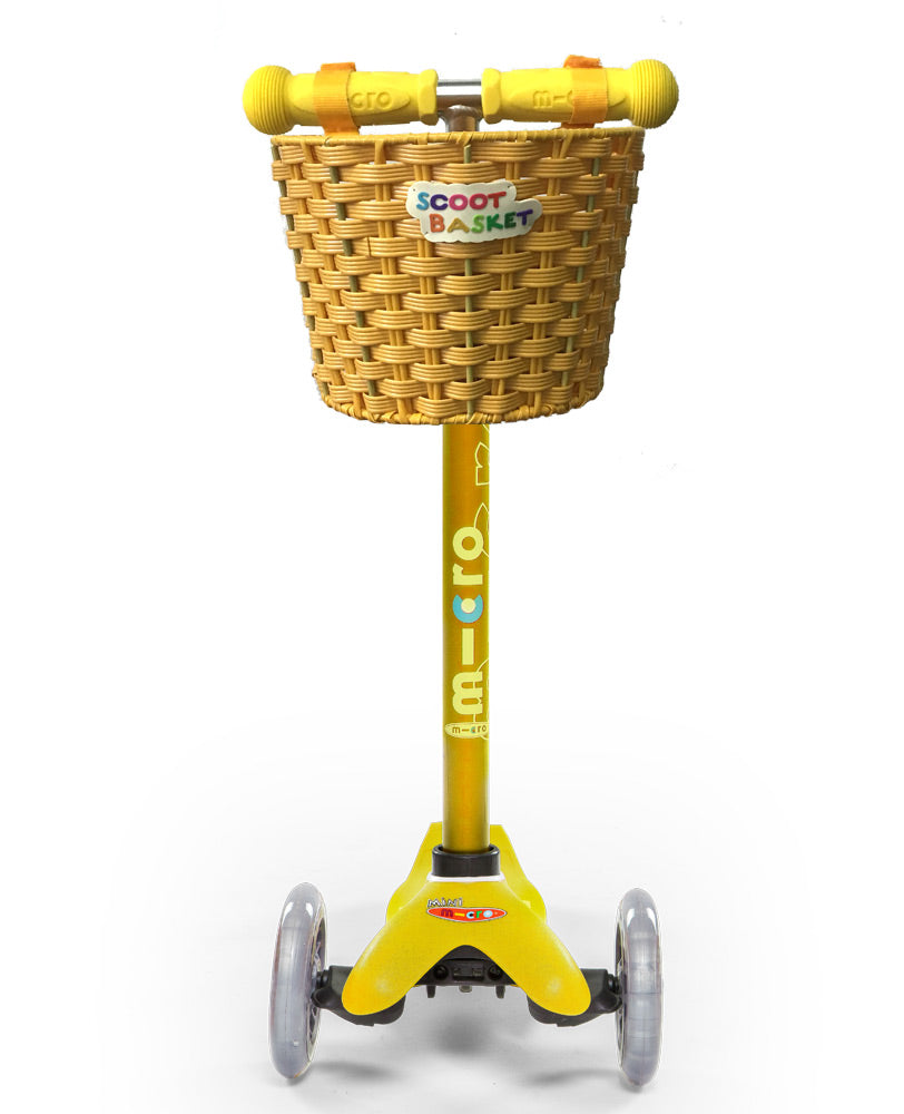 micro scooters scoot basket yellow