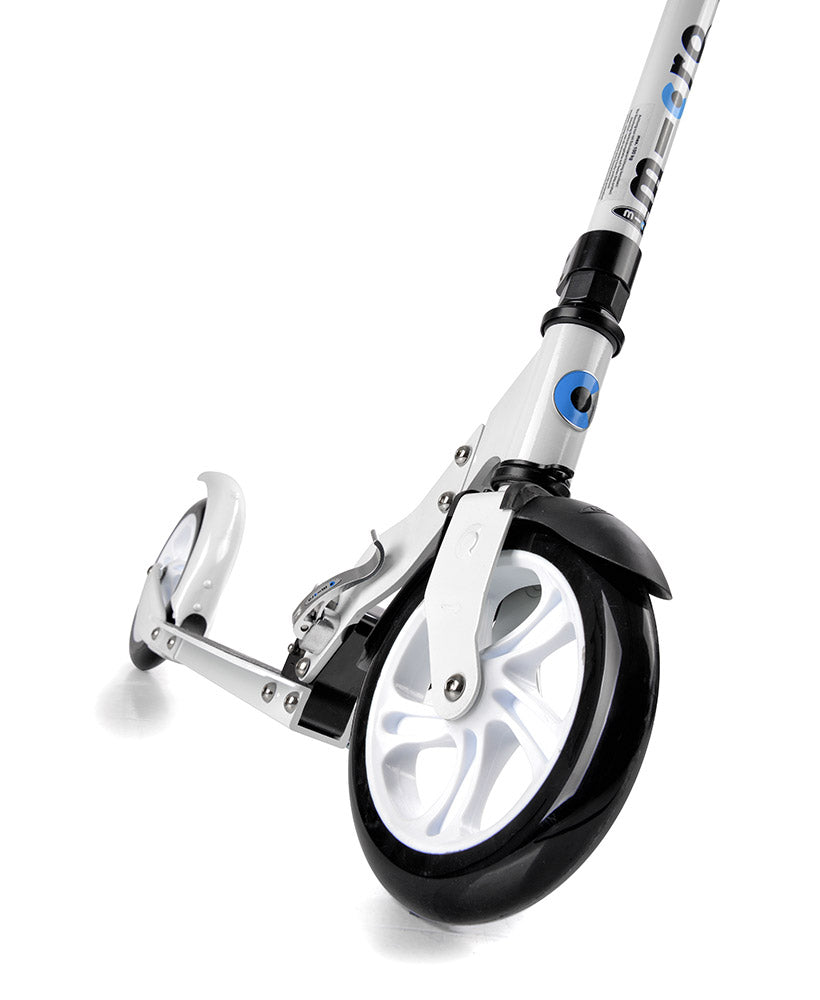 micro white scooter front