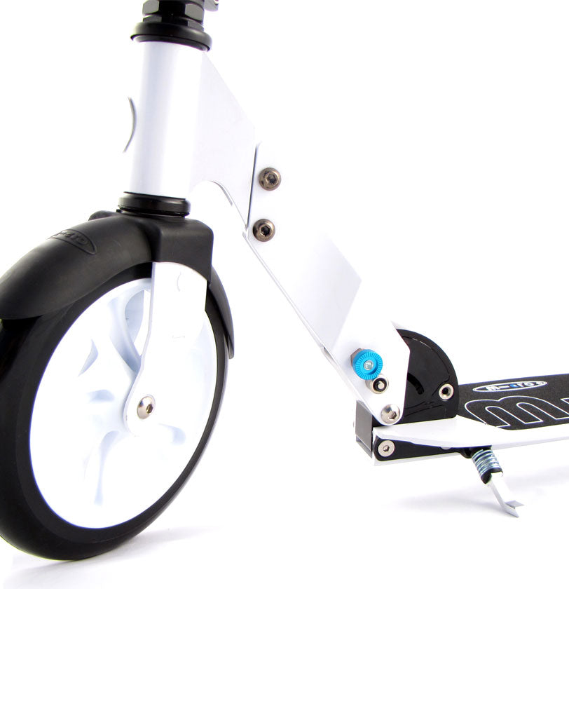 micro white scooter front wheel