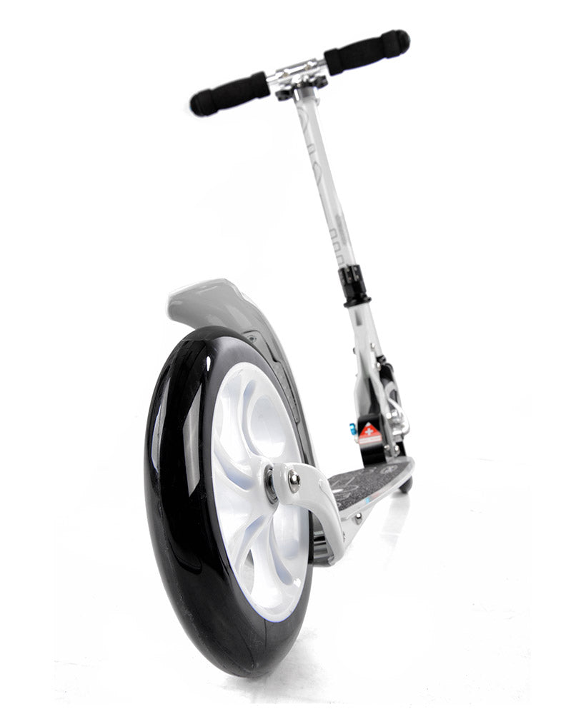 micro white scooter rear