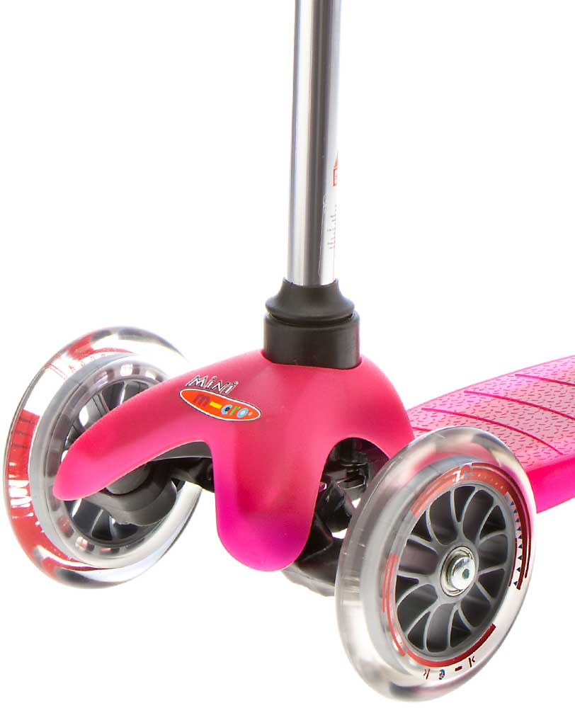 mini micro scooter pink front wheel