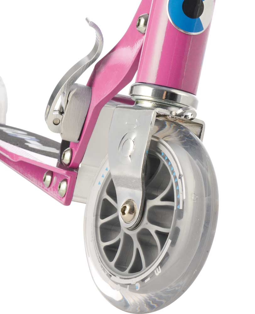 pink micro sprite scooter front wheel