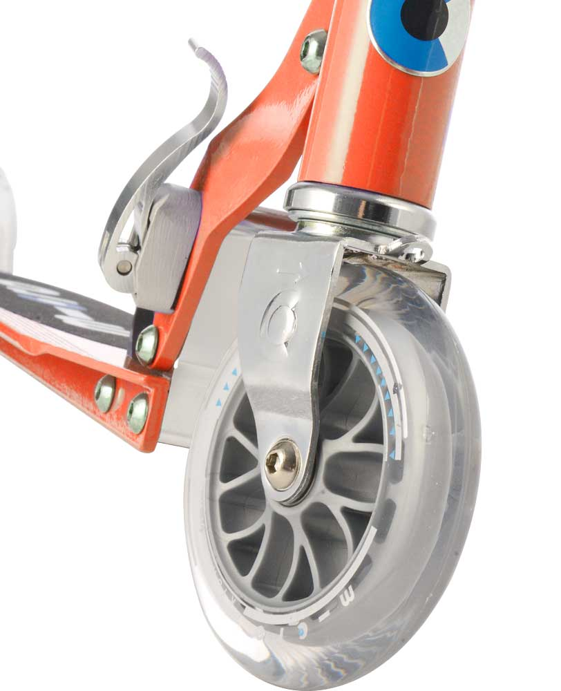 red micro sprite scooter front wheel