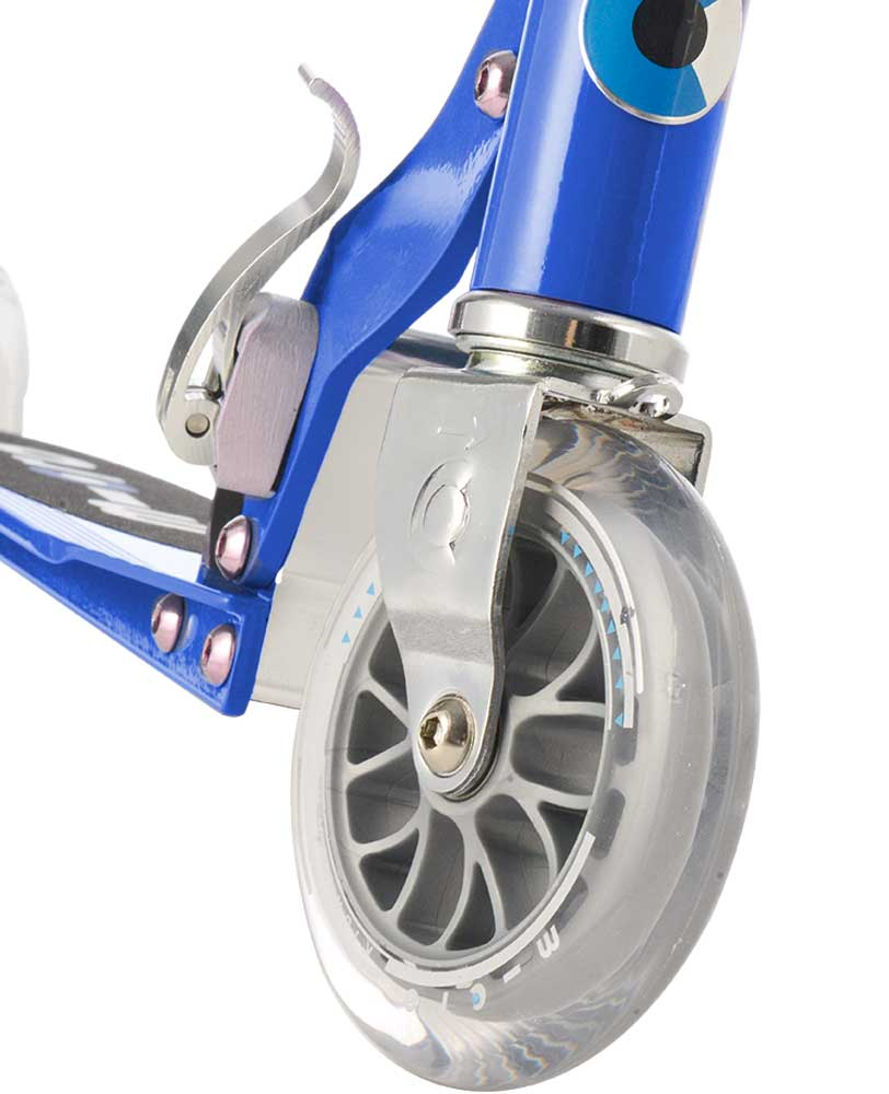 sapphire blue micro sprite scooter front wheel