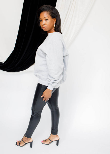 A-The Brand NIA Vegan Leather Leggings