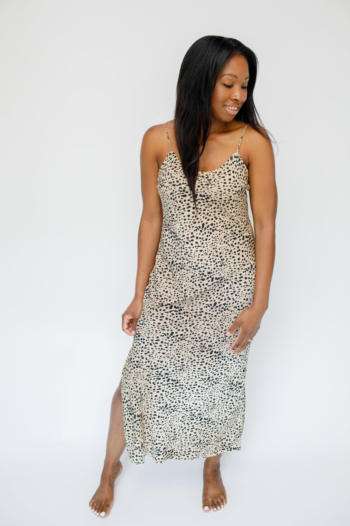 A-Mari Print Slip Dress