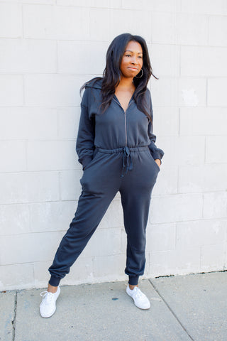 A-The Brand NIA Ziggy Ink Jumpsuit
