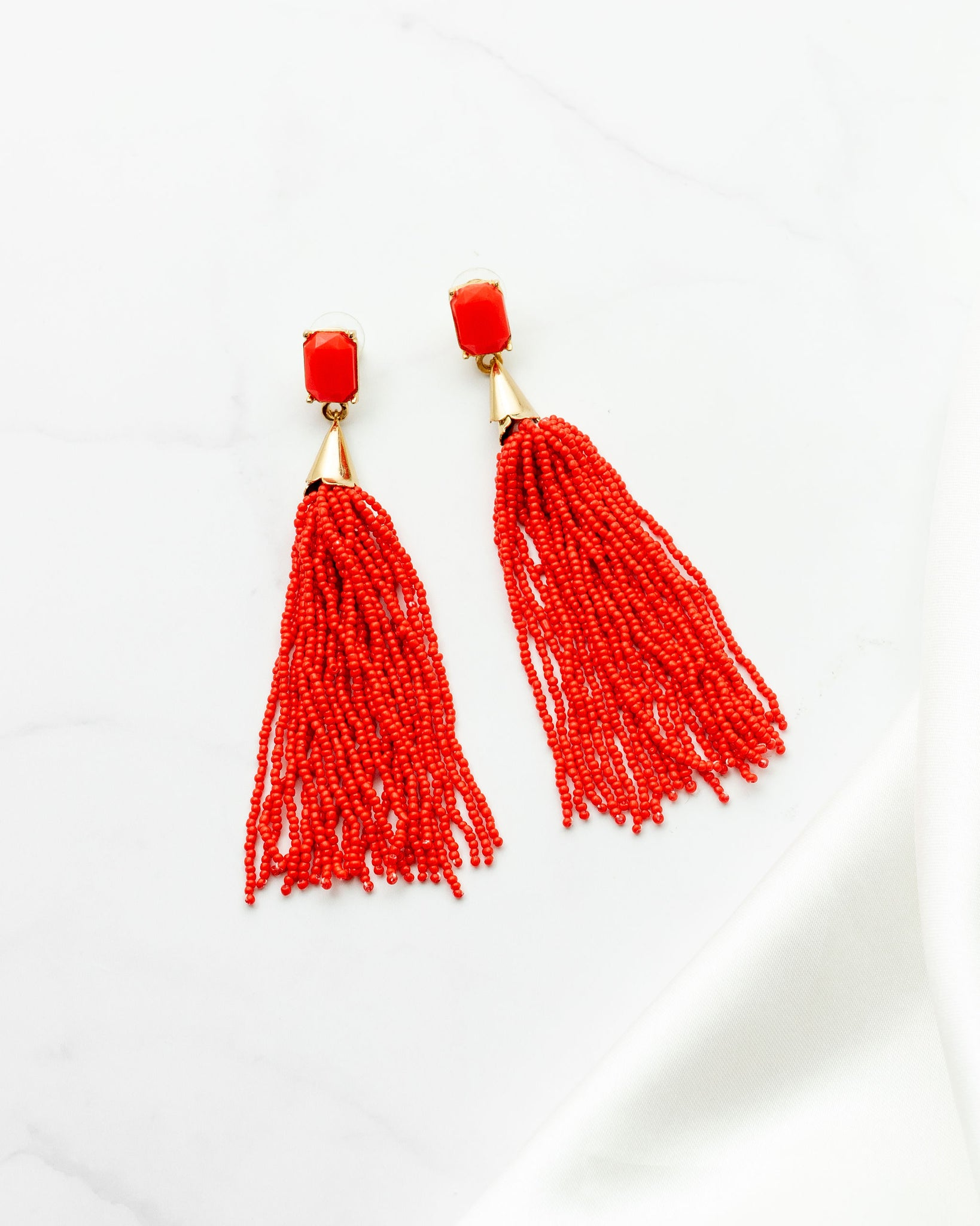 E-Bead Drop Earrings