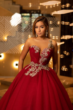 Cherry ball gown