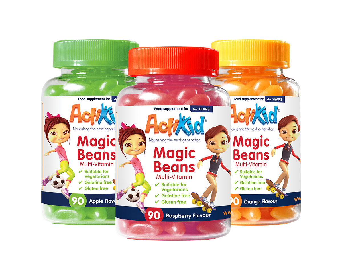 1x Magic Beans Apple 90s, 1x Magic Beans Orange 90s, 1x Magic Beans Raspberry 90s