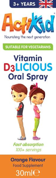 ActiKid Vitamin D3LICIOUS Oral Spray