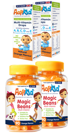 2x Magic Beans Orange 90s, 2x Multi-Vitamin Drops 25ML