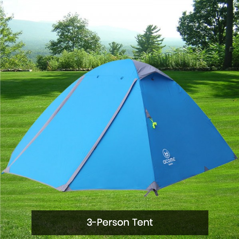 2-Day 1-Night Tent & Camping Equipment Rental (Delivery)