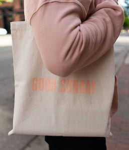 "Good Sunday ""Wave"" Tote Bag"