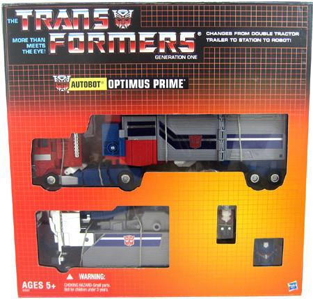Transformers Generation 1 6 Inch Action Figure Commenmorative Series 2 - Powermaster Optimus Prime w/ Apex Armor