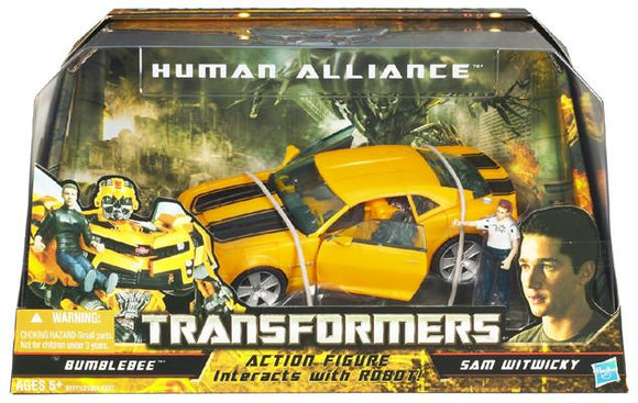 Transformers 8 Inch Action Figure Human Alliance (2010 Wave 1) - BUMBLEBEE w/ Sam
