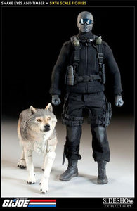 G.I. Joe A Real American Hero 12 Inch Doll Figure - Snake Eyes and Timber Sideshow