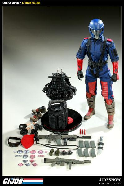 G.I.JOE 12 Inch Doll Figure Sideshow - Cobra Viper