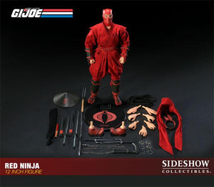 G.I. Joe 12 Inch Sideshow Doll Figure - Red Ninja