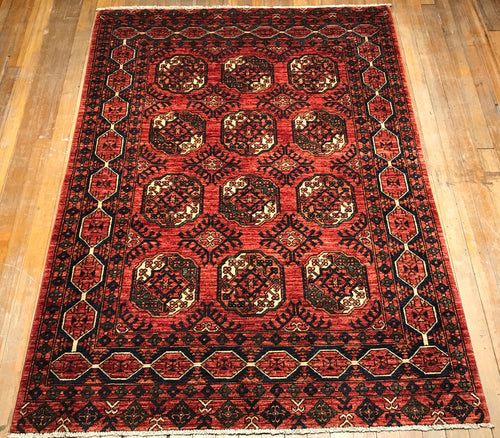 "Tribal Ensari Natural Dyes Hand Spun Wool Rug.  7'.9"" x 5'.8"""