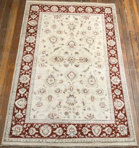 "Sultanabad Rug.  5'.10"" x 4'"