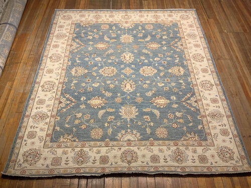 Natural Dyes/Hand Spun Wool Mahal Rug 8'.2