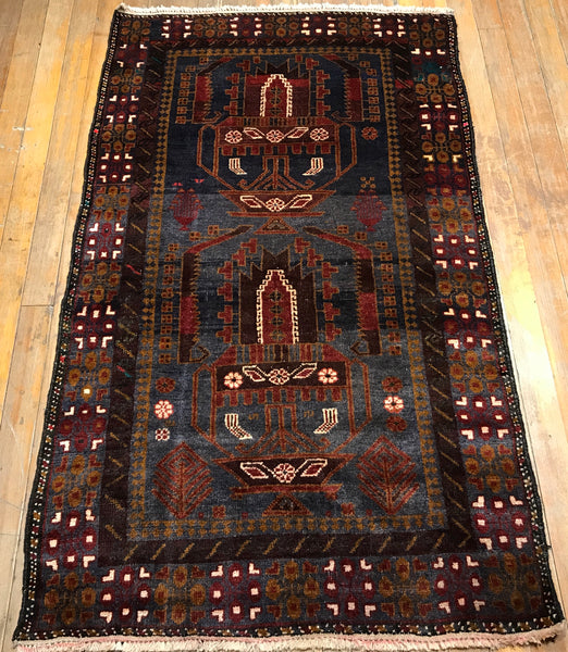 "6'.2"" x 3'.8"" Tribal Baluch Rug CLEARANCE $387.00"