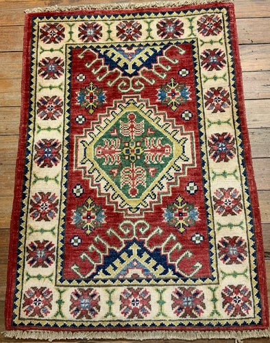 Natural Dye/Hand Spun Wool Sultanabad Rug 2'.9