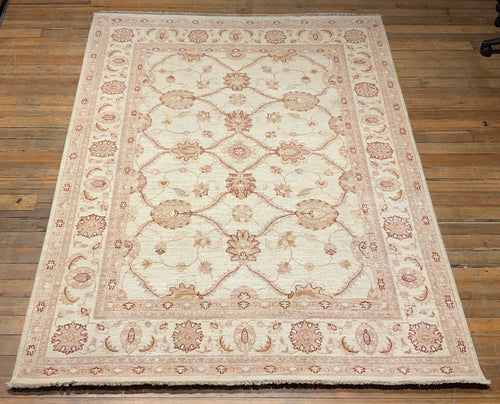 Natural Dye/Hand Spun Wool  William Morris Motif Rug 7'.7