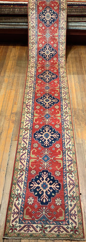 NATURAL DYES KAZAK RUG 15'4