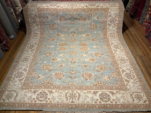 Natural Dyes/Hand Spun Wool Fine Mahal Rug 12' x 14'.6