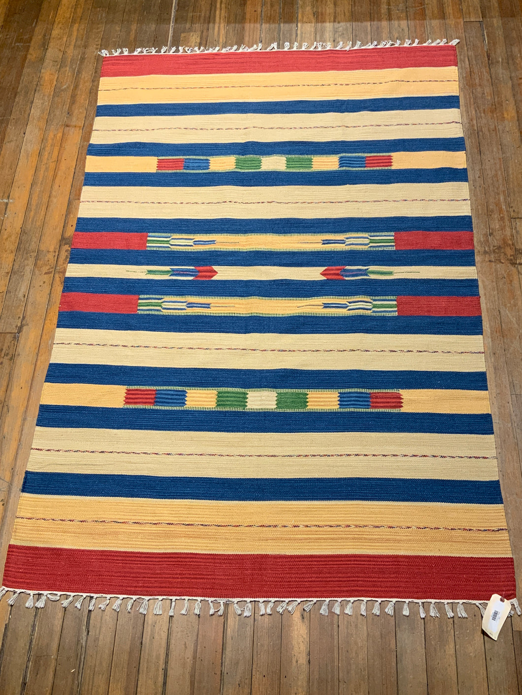 Cotton Dhurry Rug  7'.1