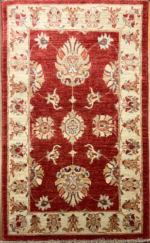Natural Dye Mushad Rug  4'.3
