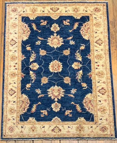 Natural Dyes/Hand Spun Wool Mushad Rug 5'.1