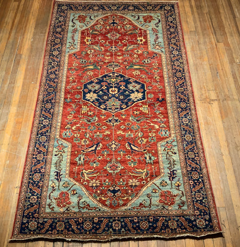 Natural Dyes/Hand Spun Wool Sarapi Rug 11'.8