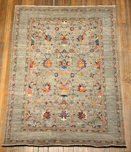Natural Dyes/Hand Spun Wool Tabriz Rug 9'.6