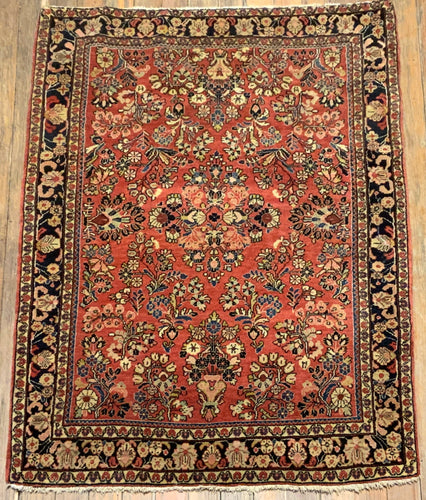 Antique Persian Sarouk  5' x 3'.5