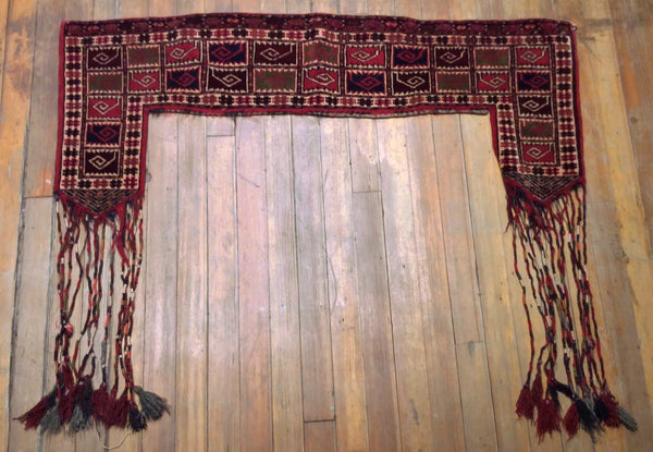 Antique Persian Belouchi Tent Hanging 5' x  2'