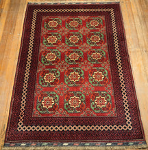 "Tribal Turkaman Rug.  6'10"" x 5'"