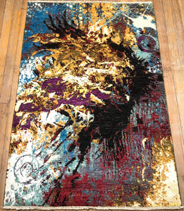 "Arts & Crafts Abstract Rug.  6'2"" x 4'2"""